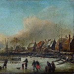 Style of Jan van de Cappelle – Winter Scene, Metropolitan Museum: part 3