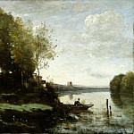 Camille Corot – River with a Distant Tower, Metropolitan Museum: part 3