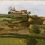 Camille Corot – View of Lormes, Metropolitan Museum: part 3