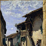 Camille Corot – A Village Street: Dardagny, Metropolitan Museum: part 3