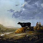 Aelbert Cuyp – Young Herdsmen with Cows, Metropolitan Museum: part 3