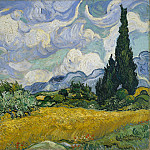 Vincent van Gogh – Wheat Field with Cypresses, Metropolitan Museum: part 3