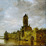 Jan van Goyen – Castle by a River, Metropolitan Museum: part 3