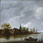 Style of Jan van Goyen – River View with a Village Church, Metropolitan Museum: part 3