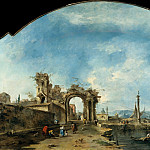 Francesco Guardi – Fantastic Landscape, Metropolitan Museum: part 3