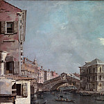 Francesco Guardi – The Grand Canal above the Rialto, Metropolitan Museum: part 3