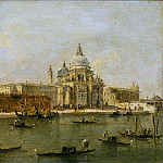 Workshop of Francesco Guardi – Venice: The Dogana and Santa Maria della Salute, Metropolitan Museum: part 3