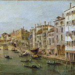 Workshop of Francesco Guardi – Venice: The Rialto, Metropolitan Museum: part 3