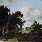 Meyndert Hobbema – Entrance to a Village, Metropolitan Museum: part 3