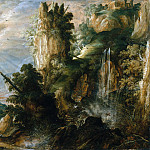 Metropolitan Museum: part 3 - Kerstiaen de Keuninck - A Mountainous Landscape with a Waterfall