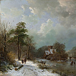 Barend Cornelis Koekkoek – Winter Landscape, Holland, Metropolitan Museum: part 3
