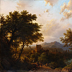 Sunset on the Rhine, Barend Cornelis Koekkoek