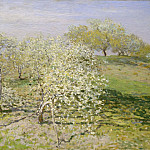 Spring (Fruit Trees in Bloom), Claude Oscar Monet