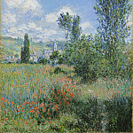 View of Vétheuil, Claude Oscar Monet