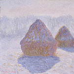 Haystacks (Effect of Snow and Sun), Claude Oscar Monet