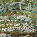 Bridge over a Pond of Water Lilies, Claude Oscar Monet