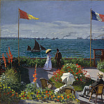 Claude Monet – Garden at Sainte-Adresse, Metropolitan Museum: part 3