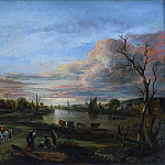 Aert van der Neer – Landscape at Sunset, Metropolitan Museum: part 3