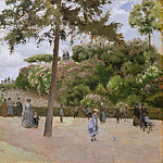 Camille Pissarro – The Public Garden at Pontoise, Metropolitan Museum: part 3