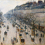 Camille Pissarro – The Boulevard Montmartre on a Winter Morning, Metropolitan Museum: part 3