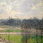 Camille Pissarro – The Garden of the Tuileries on a Winter Afternoon, Metropolitan Museum: part 3
