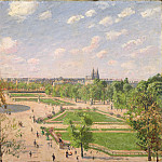 Camille Pissarro – The Garden of the Tuileries on a Spring Morning, Metropolitan Museum: part 3