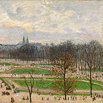 The Garden of the Tuileries on a Winter Afternoon, Camille Pissarro