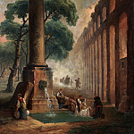 Hubert Robert – The Fountain, Metropolitan Museum: part 3
