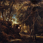 Peter Paul Rubens – A Forest at Dawn with a Deer Hunt, Metropolitan Museum: part 3
