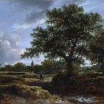 Landscape with a Village in the Distance, Jacob Van Ruisdael