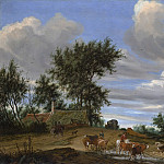 Salomon van Ruysdael – A Country Road, Metropolitan Museum: part 3
