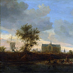 Salomon van Ruysdael – View of the Town of Alkmaar, Metropolitan Museum: part 3