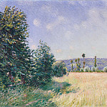 Alfred Sisley – Sahurs Meadows in Morning Sun, Metropolitan Museum: part 3