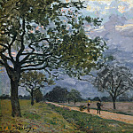 Alfred Sisley – The Road from Versailles to Louveciennes, Metropolitan Museum: part 3