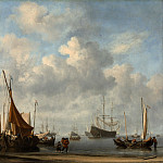 Willem van de Velde II – Entrance to a Dutch Port, Metropolitan Museum: part 3