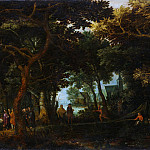 David Vinckboons – Forest Landscape with Two of Christ's Miracles, Metropolitan Museum: part 3
