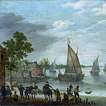 Adam Willaerts – River Scene with Boats, Metropolitan Museum: part 3