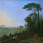Richard Wilson – Lake Nemi and Genzano from the Terrace of the Capuchin Monastery, Metropolitan Museum: part 3