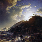 Metropolitan Museum: part 3 - Andreas Achenbach - Sunset after a Storm on the Coast of Sicily