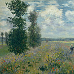 Poppy Fields near Argenteuil, Claude Oscar Monet