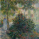 Camille Monet () in the Garden at Argenteuil, Claude Oscar Monet