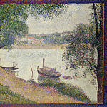 Gray Weather, Grande Jatte, Georges Seurat