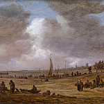 Jan van Goyen – A Beach with Fishing Boats, Metropolitan Museum: part 3
