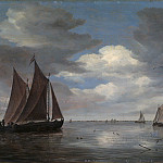 Salomon van Ruysdael – Fishing Boats on a River, Metropolitan Museum: part 3