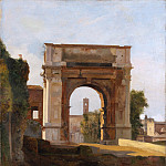 Metropolitan Museum: part 3 - French Painter, early 19th century - The Arch of Titus and the Forum, Rome