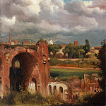 Metropolitan Museum: part 3 - Charles Rémond - View of the Basilica of Constantine from the Palatine, Rome