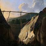 Mountainous Landscape with Bridge, Eugene Joseph Verboeckhoven