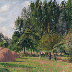 Haystacks, Morning, Eragny, Camille Pissarro
