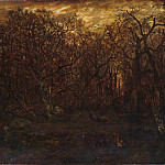 Théodore Rousseau – The Forest in Winter at Sunset, Metropolitan Museum: part 3