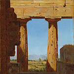 Metropolitan Museum: part 3 - Constantin Hansen - Columns of the Temple of Neptune at Paestum
